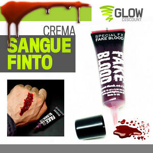 CREMA SANGUE FINTO fake blood ferita vernice rossa carnevale halloween 30240
