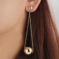 Women's Gold Plated Long Chain Pendulum Ball Dangling/Drop Stud Earrings Gifts