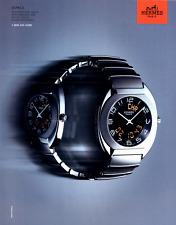 HERMES PARIS ESPACE WATCH QUARTZ MOVEMENT VINTAGE PRINT AD 2002