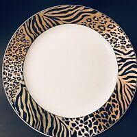 2 Studio Nova Jungle Beat Dinner Plates Leopard Tiger & Cheetah EUC
