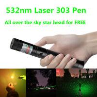 High Power Tactical 532nm 303 Green Laser Pointer Lazer Pen Visible Beam Light