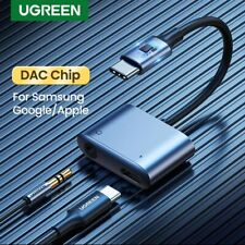 Ugreen USB C to 3.5mm AUX 2 in 1 DAC Chip Headphone Adapter S21 Note 20 iPad Pro