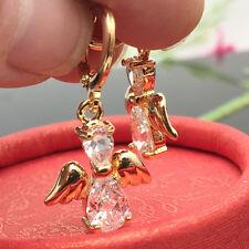 Cute Angel Crystal CZ 18K Gold Plated Dangle Earrings Women Lady Fashion Jewelry