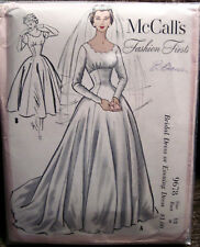 Vintage 1954 McCall's Bridal Dress or Evening Gown Pattern 2 Lengths  Sz12