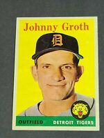 Johnny Groth Detroit Tigers 1958 Topps #262 NM Centered Sharp Beauty