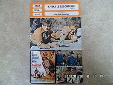 CARTE FICHE CINEMA 1967 CHUKA LE REDOUTABLE Rod Taylor Ernest Borgnine