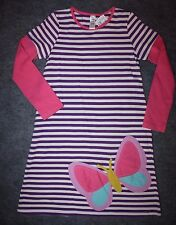MINI BODEN BUTTERFLY APPLIQUE DRESS GIRLS SIZE 9-10 NWT