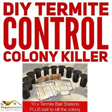 DIY TERMITE CONTROL KIT 10 x Stations PLUS Bait For Termite Colony Elimination