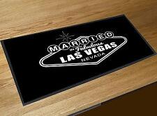 Married in Las Vegas Nevada Bar Runner Beer Mat