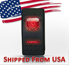 12 Volt 20 Amp Red Led Light Rocker Switch On Off Boat Car Waterproof Lighted