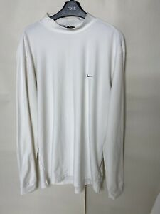 Mens Nike Dri Fit Golf Long Sleeve White Top Size Large