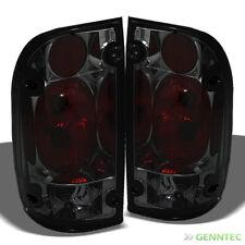 For Smoked 95-00 Tacoma Tail Lights Rear Smoke Brake Lamp Pair New Set Light
