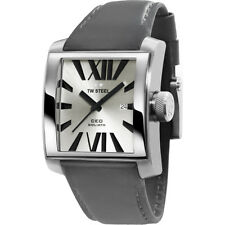 TW Steel Goliath CEO Stainless Steel Grey Leather Strap Mens Quartz Watch CE3002