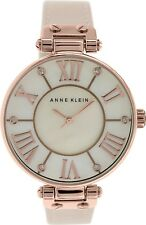 Anne Klein Women's 10-9918RGLP Mother-Of-Pearl Leather Analog Quartz Fashion Wat
