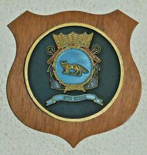 Hr Ms Vos plaque shield crest Dutch Navy Netherlands gedenkplaat HNLMS