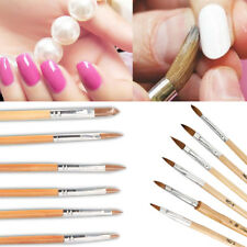 6 Professional Round Sable Acrylic Nail Art Brush Various Size 2/4/6/8/10/12/14
