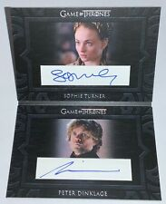 Rittenhouse Game of Thrones Season 8 Sophie Turner Peter Dinklage Autograph Book