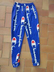 Pantalon collant running CHAMPION USA bleu sprint course XL leggings