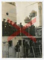 KREUZER KARLSRUHE - orig. Foto, 12,5x17,1cm, Kapelle, 1930, cruiser, band