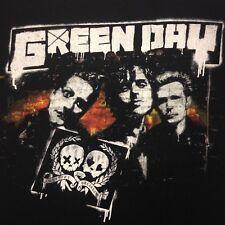 Green Day 21st Century Breakdown Albany NY 2009 2-Sided Small Black T-Shirt