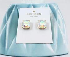 New Kate Spade Cushion Square AB Crystal stud Gold tone Earrings