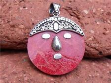 BALINESE 925 SILVER RED CORAL PENDANT SILVERANDSOUL HANDCRAFTED JEWELLERY