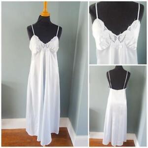 Vintage 1980s Nightgown Nightdress St Michael Ladies Peignoir Lingerie Size 10