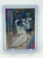 KYLE LEWIS 2020 BOWMAN CHROME GOLD REFRACTOR /50 ROOKIE OF THE YEAR FAVORITES RC