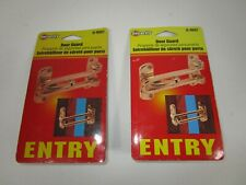 2 Brass Security Front Back Door Guard Entry Door Lock Swing Bar Hardware Safety