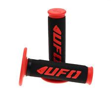 UFO Motocross Enduro Half Waffle Challenger Grips Red