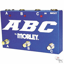 Morley ABC 3 Channel Selector/Combiner Pedal Switch Free Expedited Shipping!