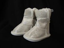 BNWT Baby Girls Sz 2 Mango Brand Super Soft Mock Fur Lined Sparkle Slipper Boots