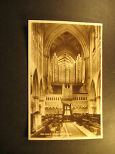 The Choir, Wells Cathedral, , about 1910, real photo, Valentine & Sons, unused