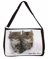 'Love You Mum' Mothers Day Cats Large Black Laptop Shoulder Bag Sch, AC-189lymSB