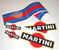 MARTINI LE MANS style FULL CAR LAMINATED sticker set decals porsche tvr