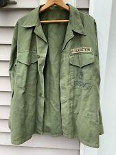 Rare P58 Sateen Field Combat Utility Og Shirt 1956 Vietnam Usmc Marines Named