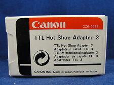 Genuine Cannon Camera TTL Hot Shoe Adapter 3 CZ62355 New In Box