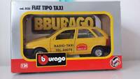 BBURAGO BURAGO FIAT TIPO GIALLA RADIO TAXI ART. 0135 1:24 VINTAGE MADE IN ITALY