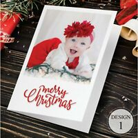 30 Christmas Cards Personalised With Photo + Message On Inside - SALE ENDS SOON