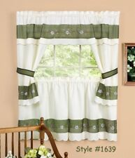 Berkshire Kitchen Curtain with Swag and Tier Set 36 In #1639