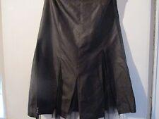 Pure Silk Full Circle Deep brown skirt size 8