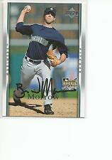 BRANDON MORROW Autographed Signed 2007 Upper Deck card Seattle Mariners COA