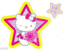 "6"" Hello kitty pep rally wink star  stick ups peel & stick wall border cut out"