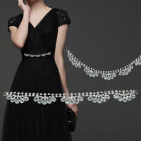 Crystal Rhinestone Diamante Motif Sewing Applique Patch Wedding Reception Dress