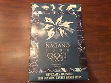 Anheuser-Busch Nagano 1998 Olympic Winter Games Ceramic Olympics Stein Cs350