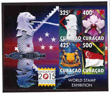 Curacao 2015 World stamp exhibition Singapore S/S MNH