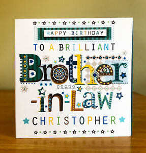 brother-in-law birthday card. Special personalised card for brother-in-law