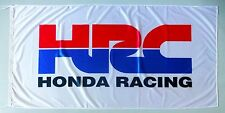 HONDA RACING FLAG HRC WHITE - SIZE 150x75cm (5x2.5 ft) - BRAND NEW