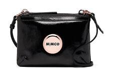 Authentic Mimco Secret Couch Hip Bag Pattent Black Rose Gold Purse