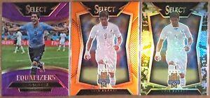 2015-16 Select Soccer (3) Card Luis Suarez Lot! Camo & Orange Prizms!
